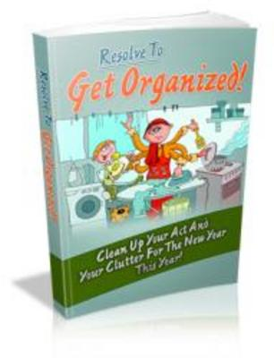 Product picture Resolve To Get Organized